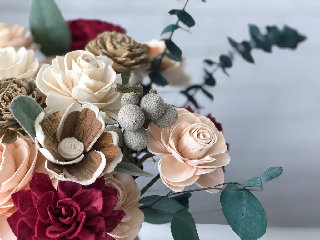 Lush Winter Arrangement Fall & Winter Collection Pine and Petal Weddings