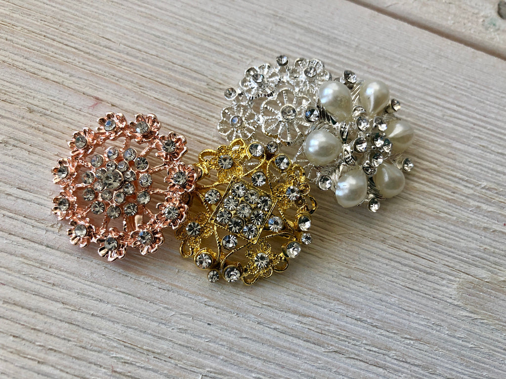 Brooches - UPGRADE Bouquet Upgrades Pine and Petal Weddings