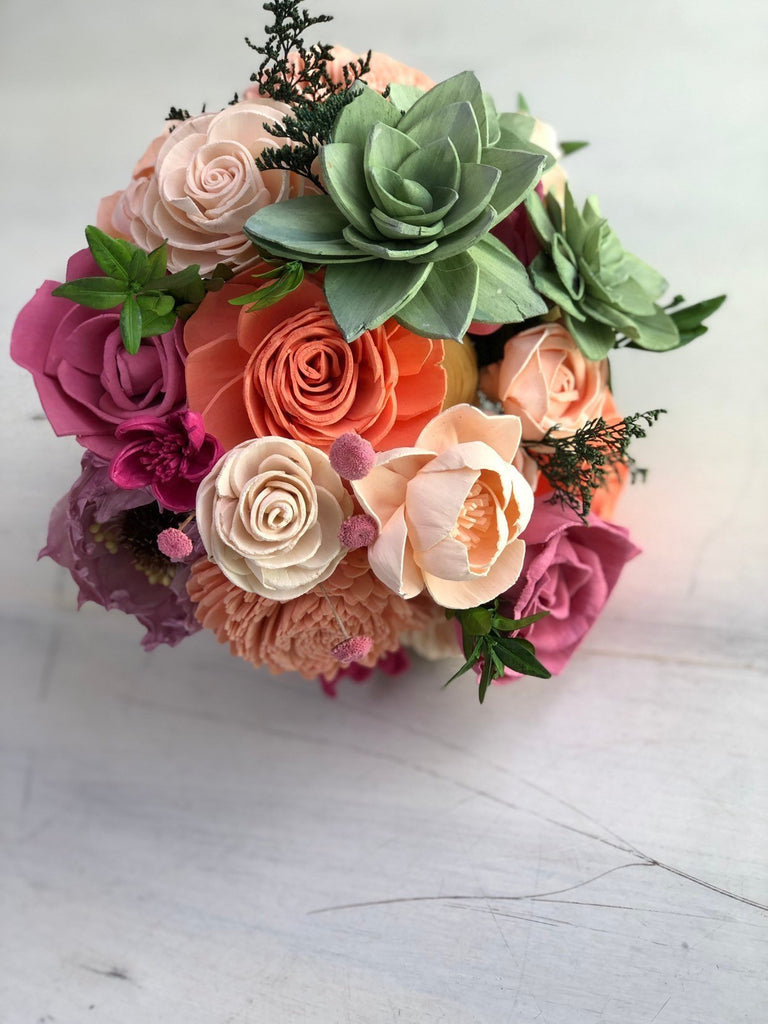 Springtime Succulent Bouquet Bouquets Pine and Petal Weddings