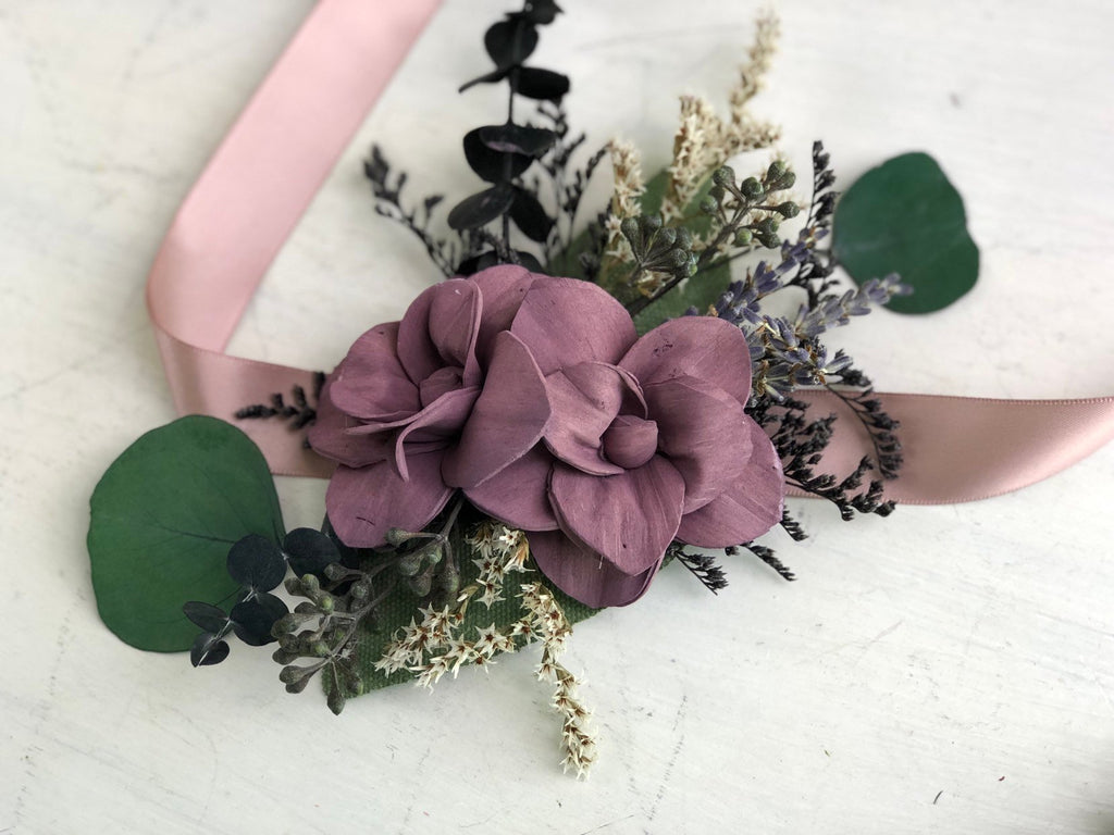 Midnight Promenade Wrist Corsage Boutonnières & Corsages Pine and Petal Weddings