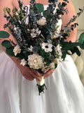 Adore You Anemone and Eucalyptus Bouquet Bouquets Pine and Petal Weddings