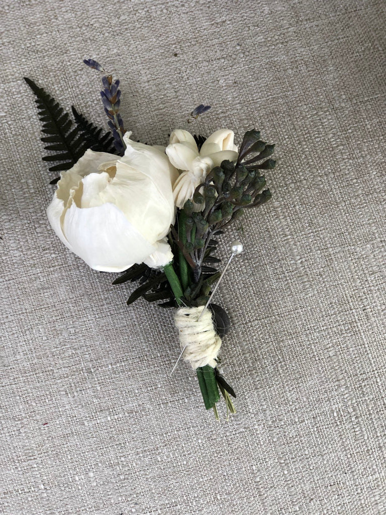 My Fair Lady Boutonnière Boutonnières & Corsages Pine and Petal Weddings