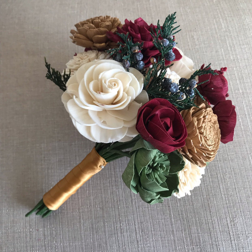 Holiday Sola Flower Bouquet Bouquets Pine and Petal Weddings