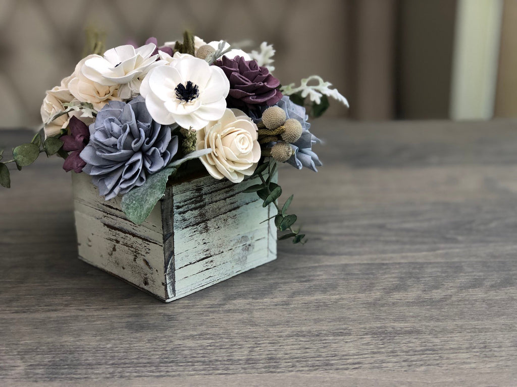 The Carriage House Centerpiece - PineandPetalWeddings