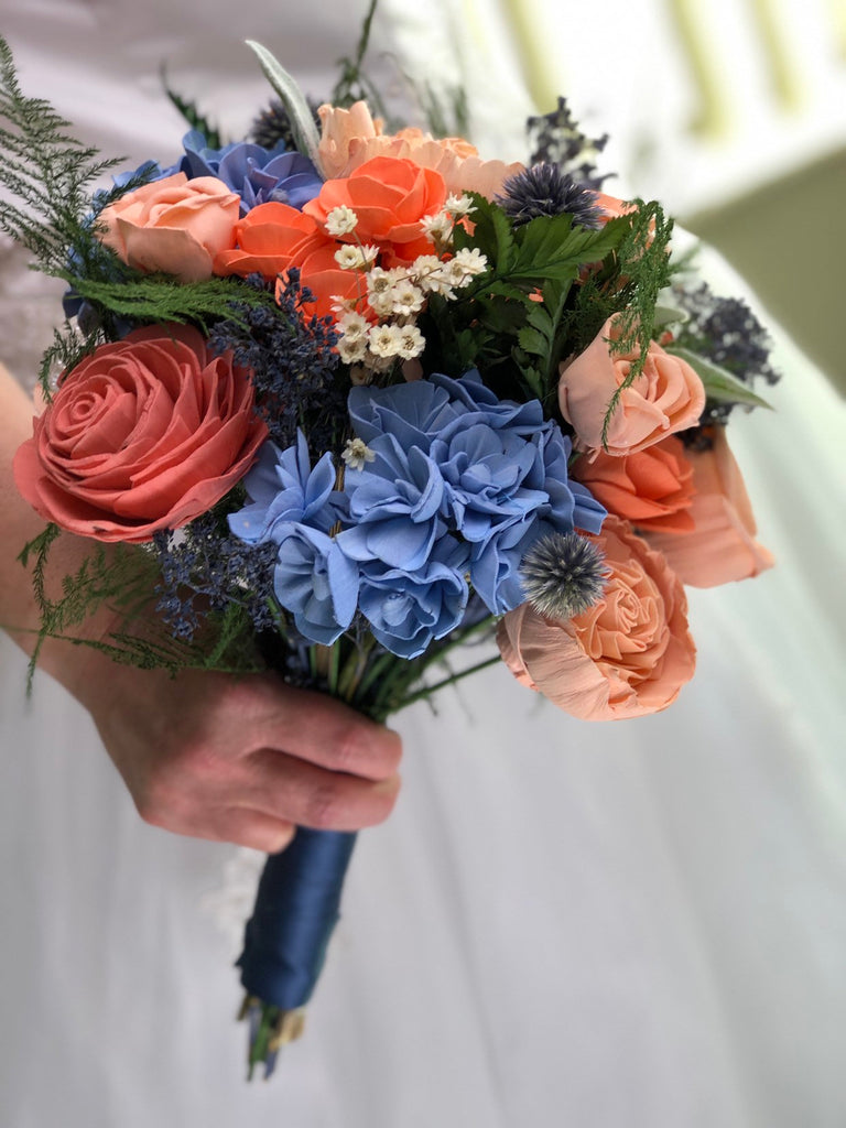 Peaches and Dream Bouquet Bouquets Pine and Petal Weddings