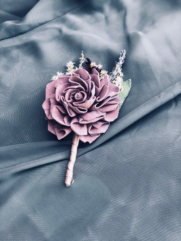 Midnight Promenade Dhalia Boutonniere Boutonnières & Corsages Pine and Petal Weddings