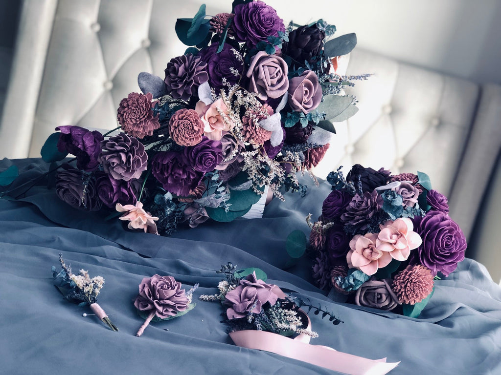 Midnight Promenade Oblong Bouquet Bouquets Pine and Petal Weddings