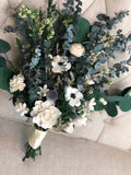 Adore You Anemone and Eucalyptus Bouquet - PineandPetalWeddings