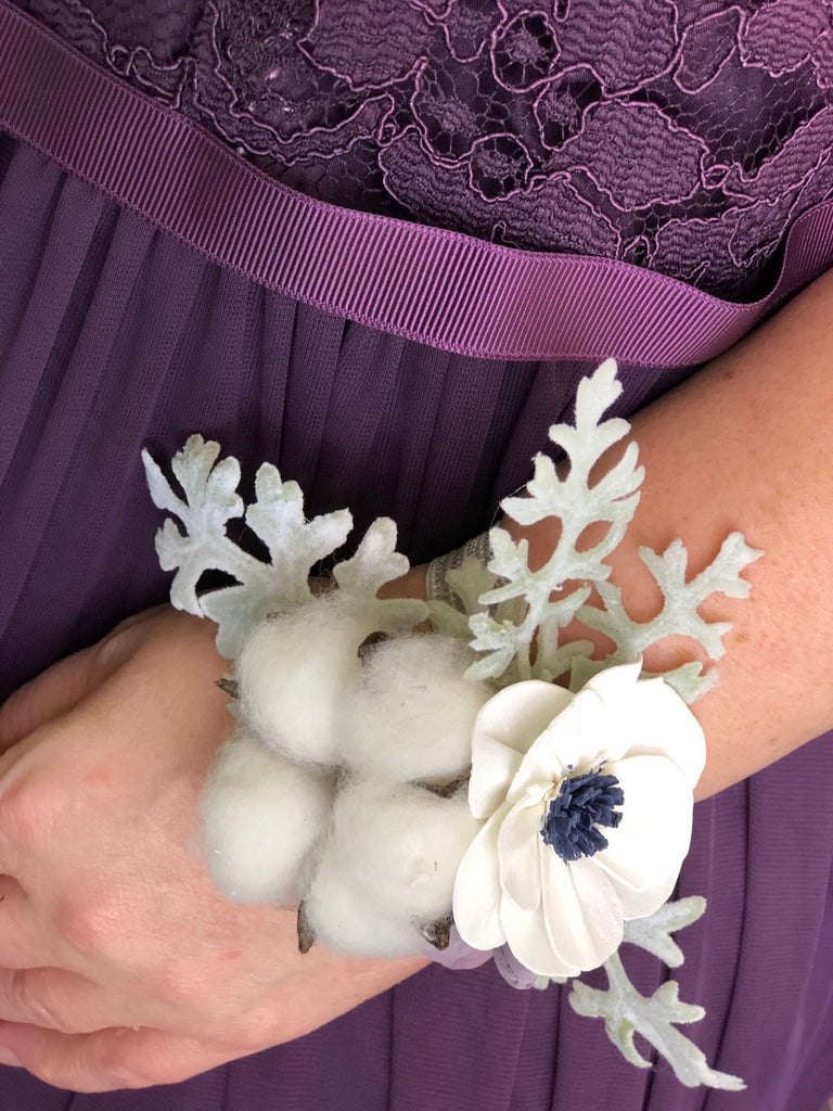 The Carriage House Wrist Corsage Boutonnières & Corsages Pine and Petal Weddings