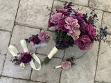 Deep Purples Eucalyptus Bouquet Bouquets Pine and Petal Weddings