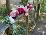 CREATE YOUR OWN - Ceremony Arch Garland Swag - PineandPetalWeddings