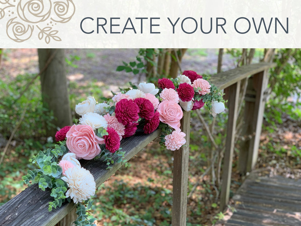 CREATE YOUR OWN - Ceremony Arch Garland Swag Custom Orders Pine and Petal Weddings