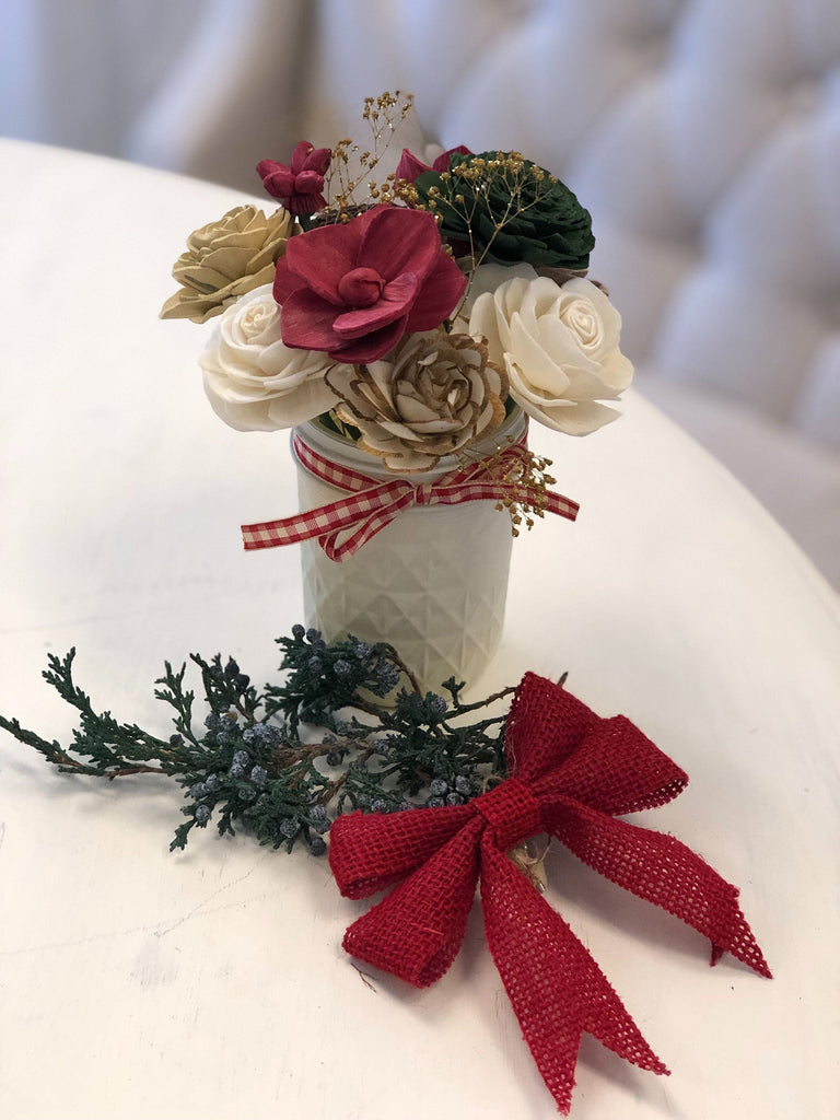Christmas Cookies - MINI 8oz Jar Arrangement Fall & Winter Collection Pine and Petal Weddings
