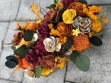 Branches and Blooms Fall Table Arrangement Fall & Winter Collection Pine and Petal Weddings