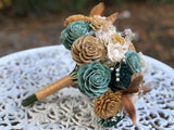 Art Deco Sola Flower Bouquet Bouquets Pine and Petal Weddings