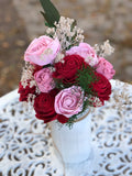 Be Mine Flower Sola Flower Arrangement Arrangements Pine and Petal Weddings