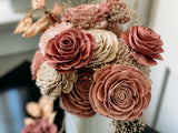 Ivory, Pink and Rose Gold Christmas Fall & Winter Collection Pine and Petal Weddings