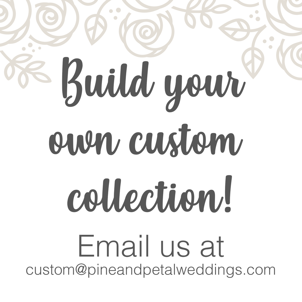 CUSTOM SAMPLE Loose Flowers - MATCH Your Colors! Loose Flowers & Samples Pine and Petal Weddings