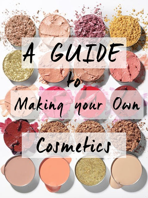 A guide to making your own cosmetics, crushed and pan eyeshadow highlighter lipgloss and blusher
