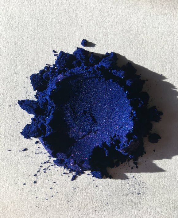 Sapphire blue cosmetic mica powder sparkle pigmented