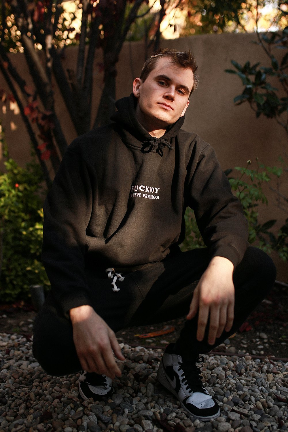 F Boy With Feelings Black Hoodie