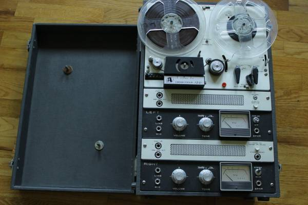 Vintage Akai M-8 Cross Field Reel Tape Recorder. Tube Preamps 1963