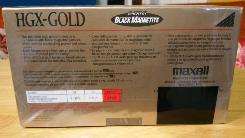 Maxell HGX-Gold T-120 Blank VHS Tapes Lot Of 9 New Sealed