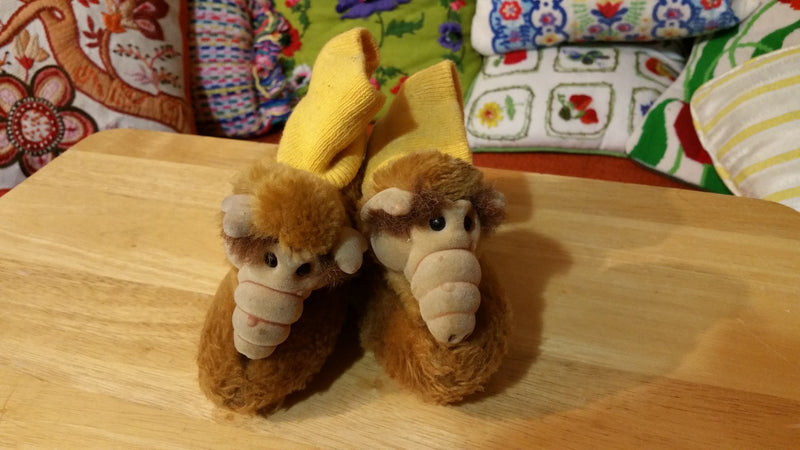 Alf Slippers Vintage 1980s Child Size Collector Yellow sock