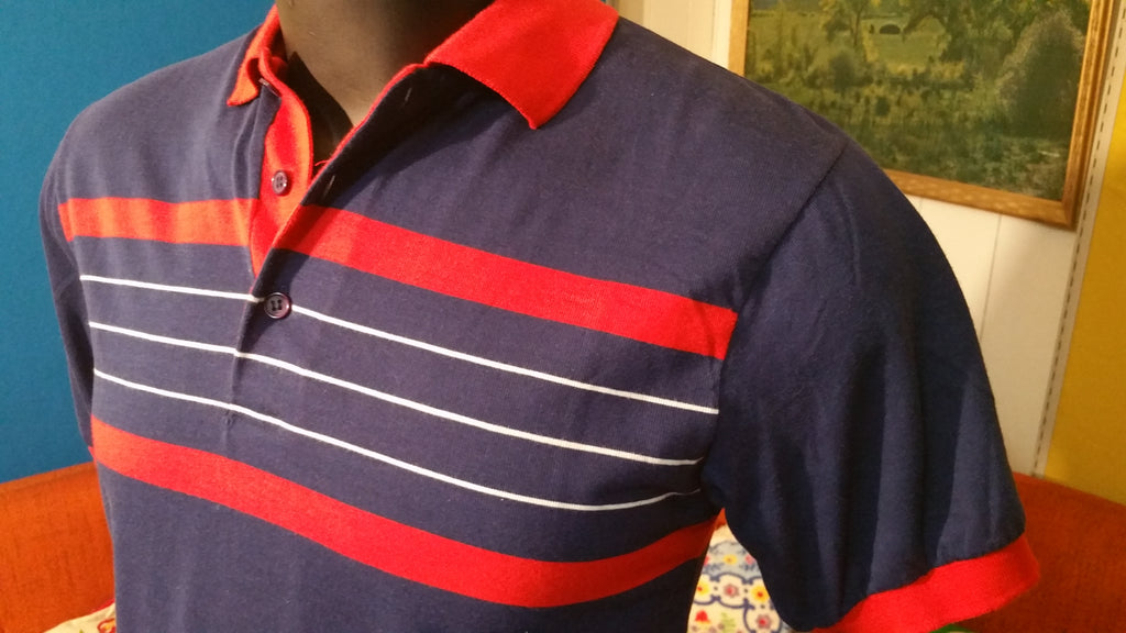 Private Club Polo Shirt 1980's Totally Deadstock!!