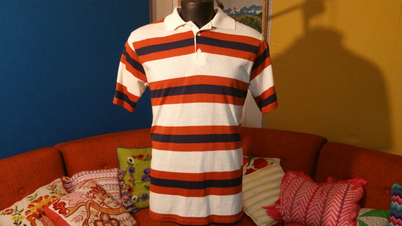 "Jockey ""Alexander Shields"" Striped Vintage Polo Shirt 1980's"