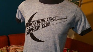 Northern Lights Supper Club Crescent Moon Ringer T-Shirt 70's NWOT Never Worn!