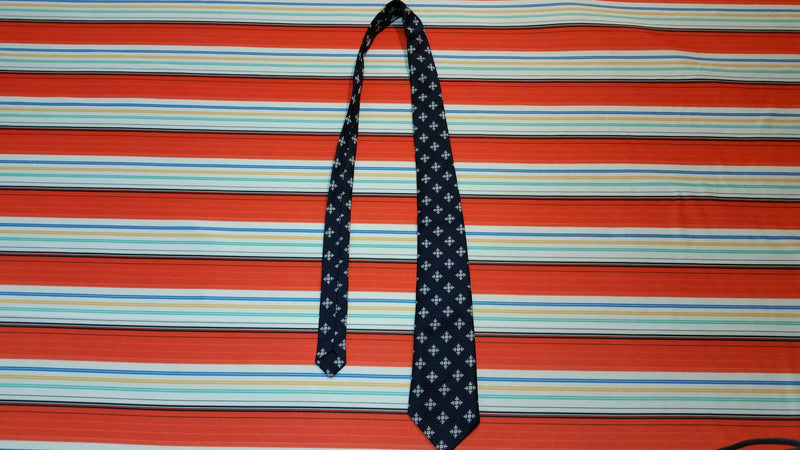 Vintage 70's Haband's 100% Polyester Navy Blue Neck Tie.  Retro.