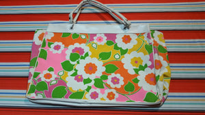 Vintage Made In Japan Flower Handbag 60's 70's