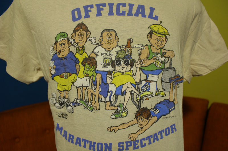 Official Marathon Spectator Vtg Hanes 1980 J Angus McLean 80's Single Stitch T-Shirt