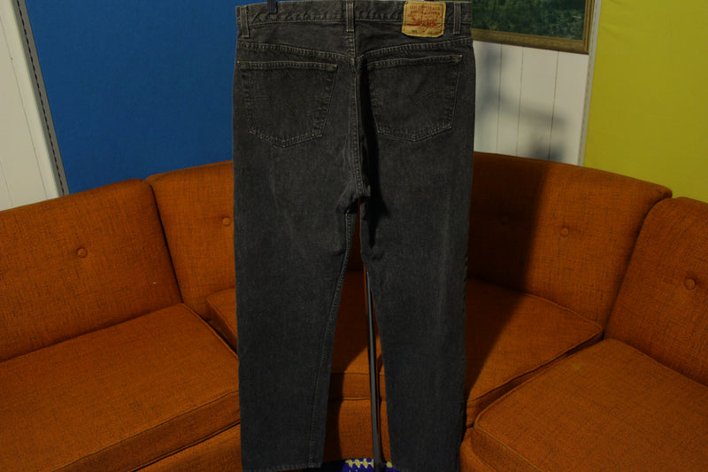 Levis Very RARE!! 501-0658 80s Made In USA Black Jeans Button Fly Blank Tab