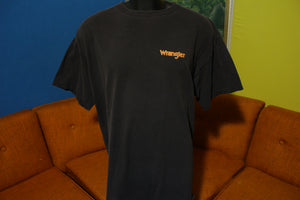 Wrangler Vtg 90's Fear Factor Everyone Ride Rodeo Cowboy XL Bull Riding T-Shirt