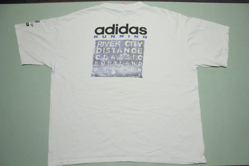 River City Distance Classic Portland 1995 Adidas Vintage Smith Barney T-Shirt