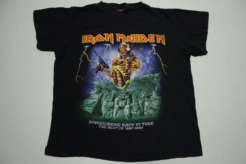Iron Maiden Somewhere Back In Time Best of 1980 - 1989 Egyptian Graphic T-Shirt