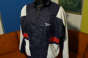 Reebok Vintage 80s 90s Distressed Colorblock Windbreaker Athletic Jacket