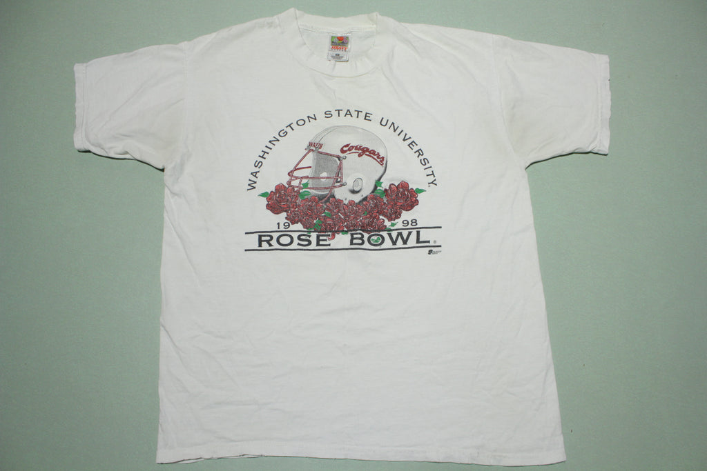 WSU Washington State Cougars 1998 Rosebowl Vintage 90's College Football T-Shirt