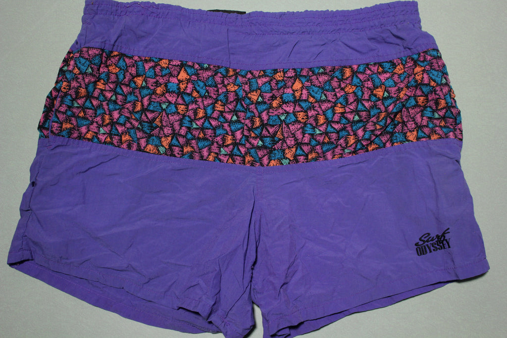 Surf Odyssey Vintage 90s Surfing Beach Swimming Trunks Shorts