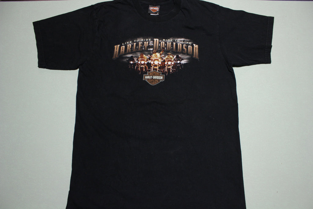Harley Davidson Motor Cycles Made in USA Live To Ride Twin Cities MN 2007 T-Shirt