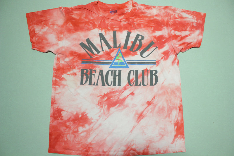 Malibu Beach Club Vintage Single Stitch Tie Dye Royal First Class Made in USA T-Shirt
