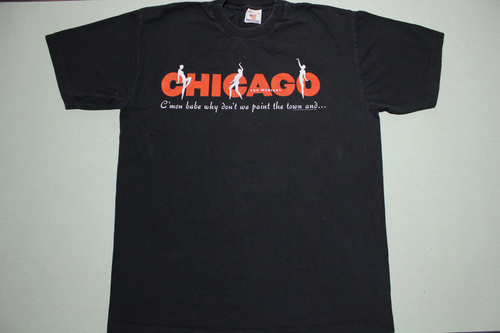 Chicago The Musical Paint The Town Jazz 1997 Vintage 90s Single Stitch T-Shirt