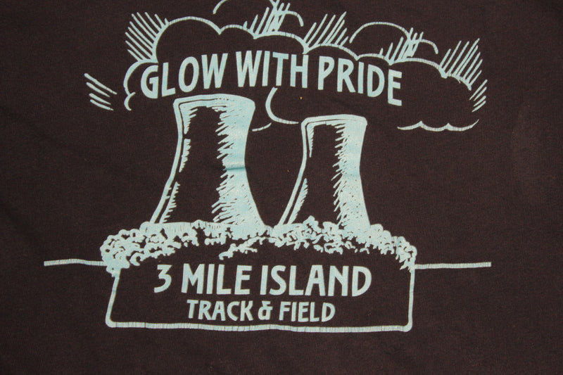 3 Mile Island Glow With Pride Track & Field 80s Vintage Single Stitch T-Shirt