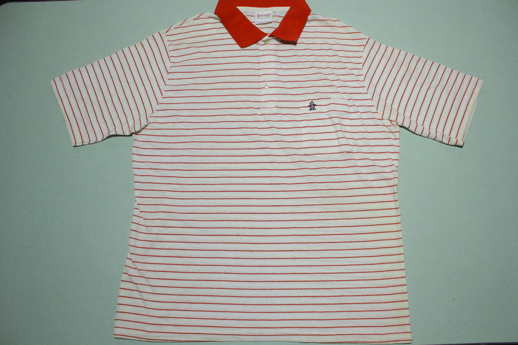 Munsingwear Grand Slam Penguin Vintage Striped 80's Made In USA Golf Polo Shirt