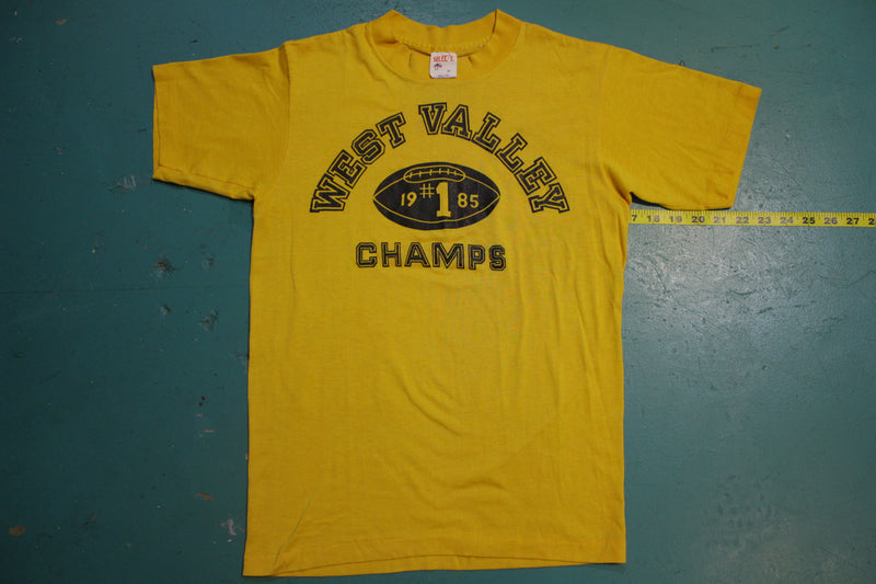 1985 West Valley Champs #1 Football Tee Jays 80's Single Stitch T-Shirt