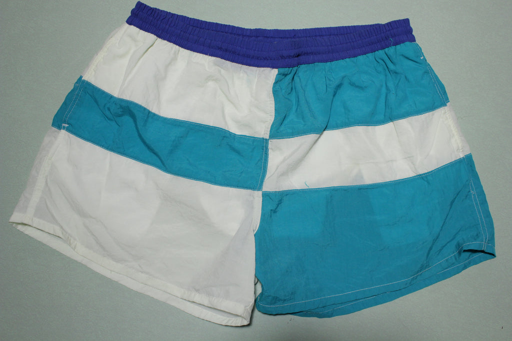 Cascade Sports Vintage 90's Color Block Swimming Trunks / Shorts