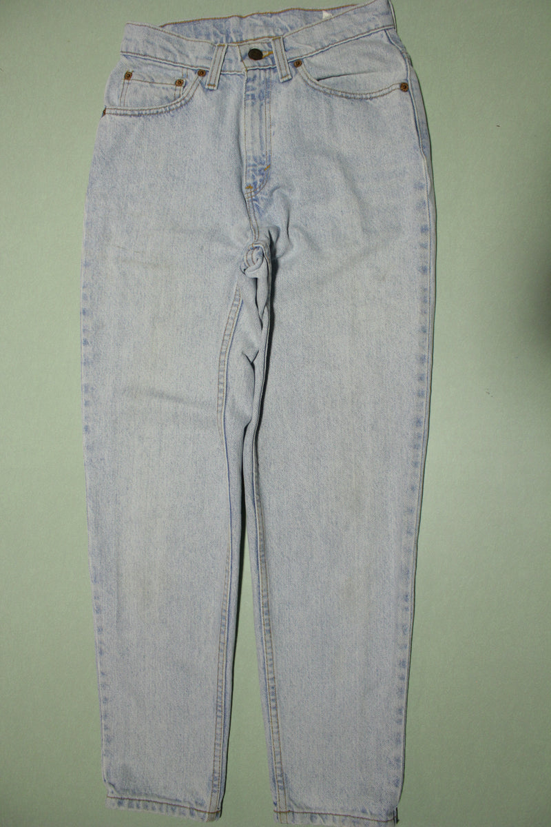 Levis 521 Vintage 90s Stone Washed Made In USA 12521-0233 Denim Jeans