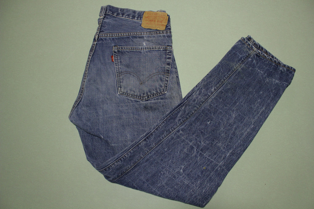 Levis 505-0217 Vintage 70s Black Bar Tack Single Stitch Talon 42 Zipper #8 Stamp Denim Jeans